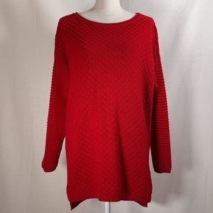 Vince Camuto women's sweater size XL red textured